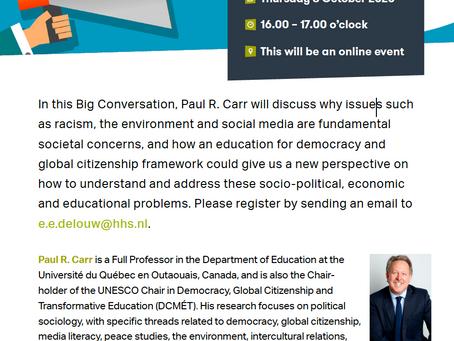 Teaching democracy, living global citizenship: Are we dreaming? (UNESCO Chair DCMÉT presentation)