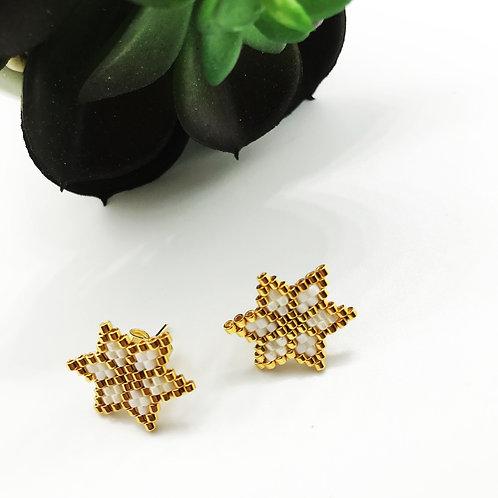 Boucles d'oreille puce STAR