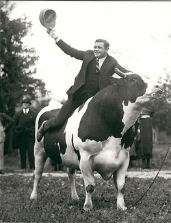 Babe riding King Jess 1922
