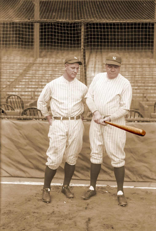 8x10 Babe showing Lou bat