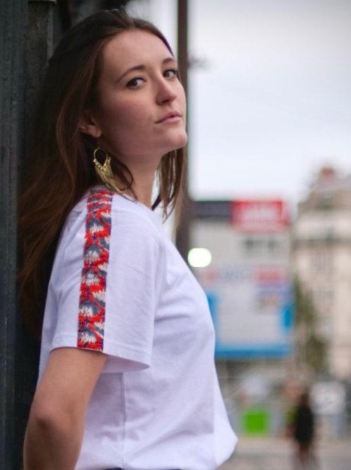 T-shirt femme 100% coton bio Fleurs de printemps