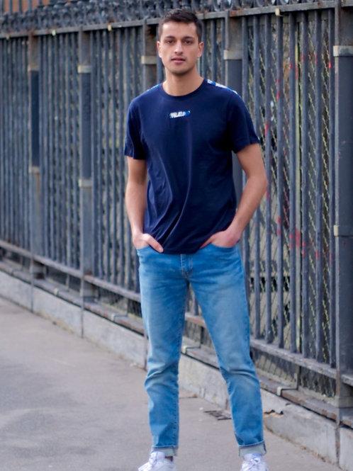 T-shirt homme 100% coton bio La vague de Kanagawa