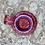 Thumbnail: Ceramic Incense and Tealight Holder - hammered maroon and purple