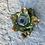Thumbnail: Mini glass spell jar - Green and Gold