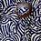 Thumbnail: Buckle Maxi Skirt - navy, cream - one size