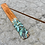 Thumbnail: Hand Painted Wooden Incense Burner - White Sage