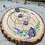 Thumbnail: Wood slab crystal grid, Lavender and White Sage