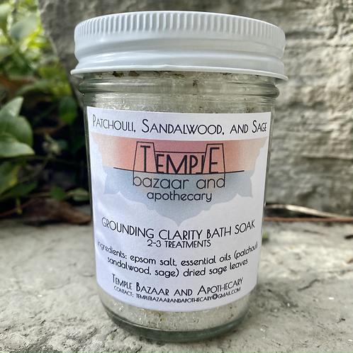 Patchouli, Sandalwood, Sage - Grounding Clarity Bath Soak