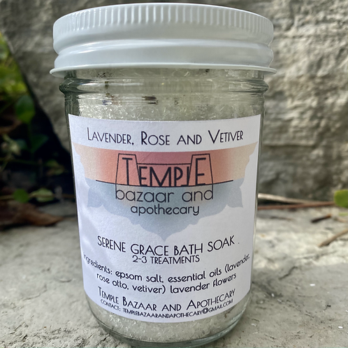 Lavender, Rose, Vetiver - Serene Grace Bath Soak