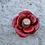 Thumbnail: Mini glass spell jar - Red Flower