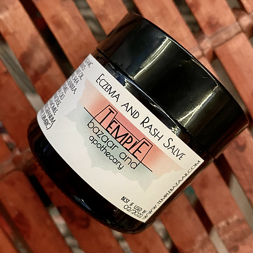 Eczema and Rash Salve, organic 2 oz.