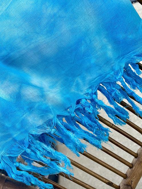 Tie Dye Sarong Wrap - sky blue - one size