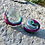 Thumbnail: Mini glass spell jar - Pink and Teal Snake