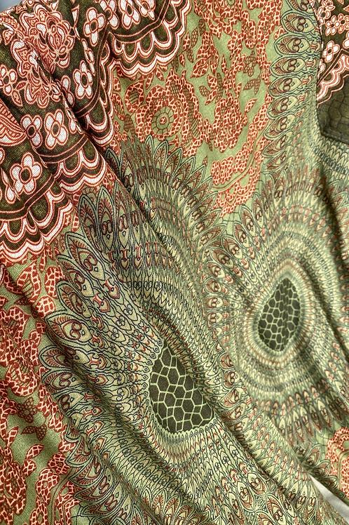 Harem Pants - green, tan, rust - one size