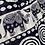 Thumbnail: Harem Pants - black and white - one size