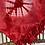 Thumbnail: Tie Dye Sarong Wrap - red - one size