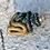 Thumbnail: Mini glass spell jar - Black and Gold Snakes