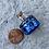 Thumbnail: Mini glass spell jar - Blue Geometric