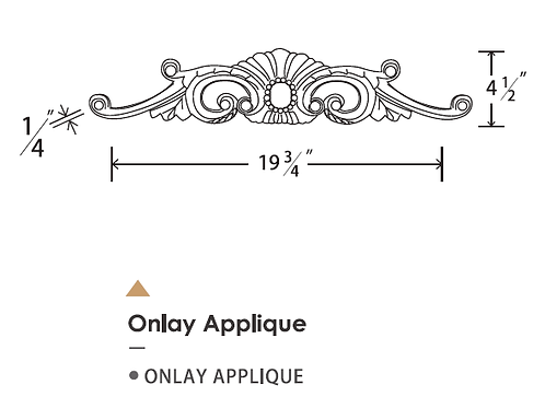 ONLAY APPLIQUE
