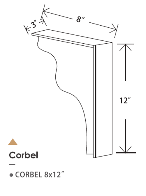CORBEL 8X12