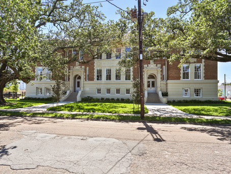 The Rendon Apartment was a historic renovation to a 1900's school building, in Mid City New Orleans