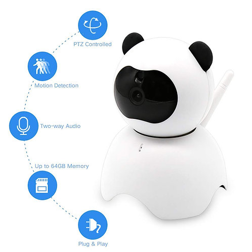 EsiCam Baby Monitor WiFi Hidden Camera Amazon Cloud Nanny Camera for Smart Phone