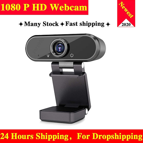 Webcam 1080P HD Web Camera Built-In Microphone Rotatable Cameras