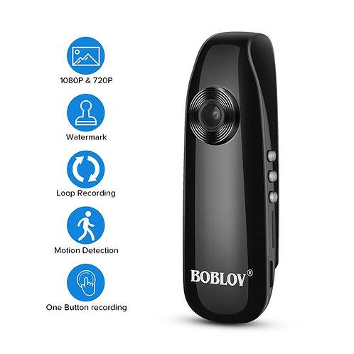 BOBLOV Mini-Kamera Full HD 1080P Tragbare Camara Police Video Recorder Body Cam