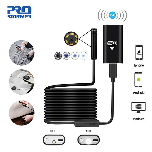 Wifi Endoscope Camera 720P Hard/Softwire  for phone Waterproof Inspecte Camera 5