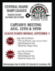 CENTRAL MAINE DART LEAGUE AUG 12 AND 19
