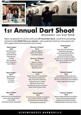 1ST ANNUAL DART SHOOT, CENTRAL MAINE DAR