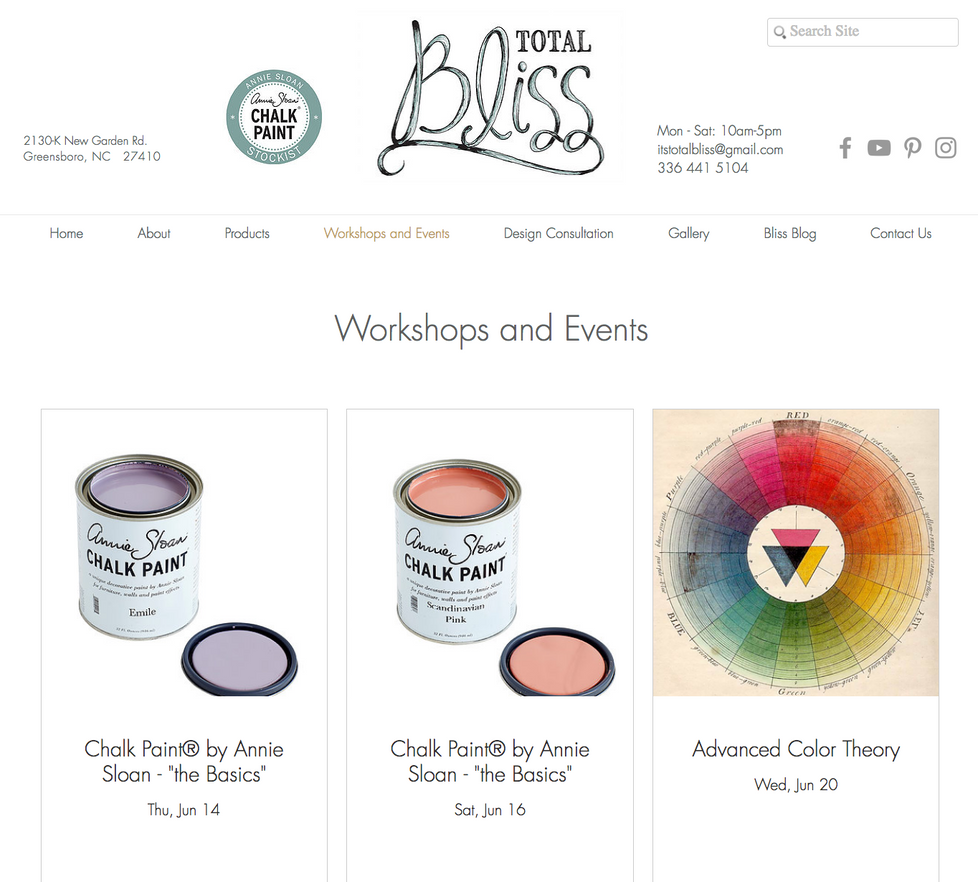 New Workshops at Total Bliss