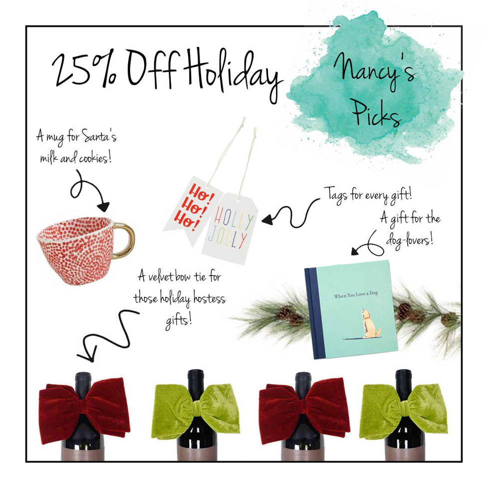 25% Off All Holiday!