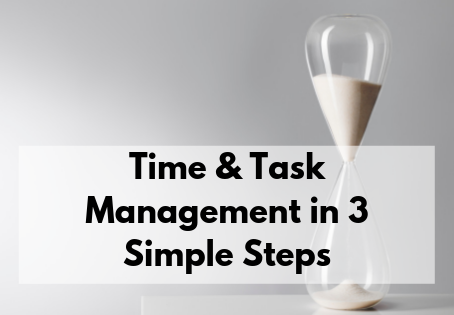 Time and Task Management in 3 Steps