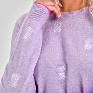 Brodie Pineapple Sweater sleeve detail.j
