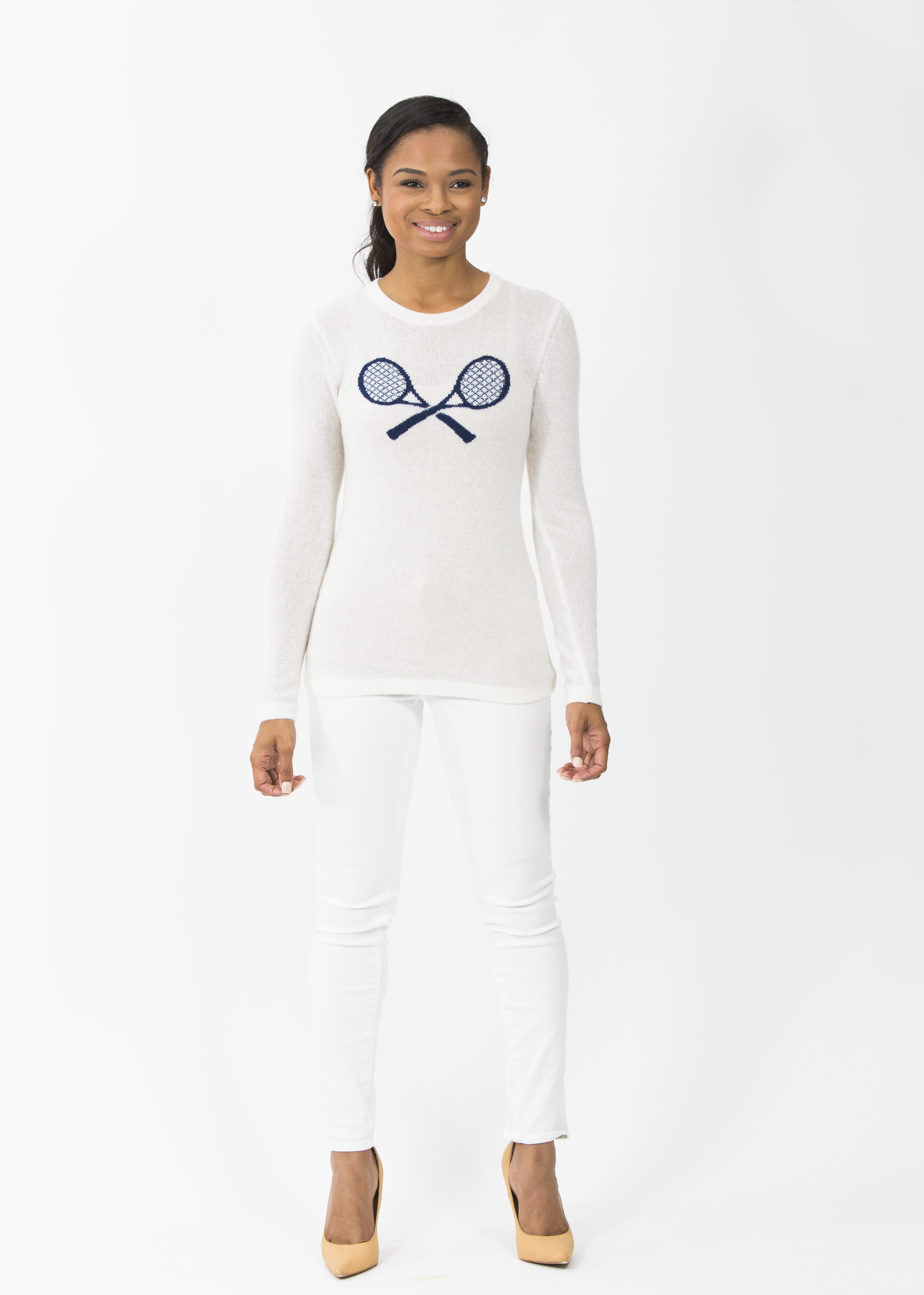 TennisIntarsiaSweater