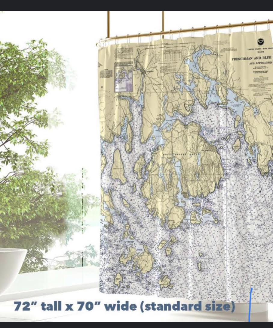 Maritime Tribes Shower Curtain