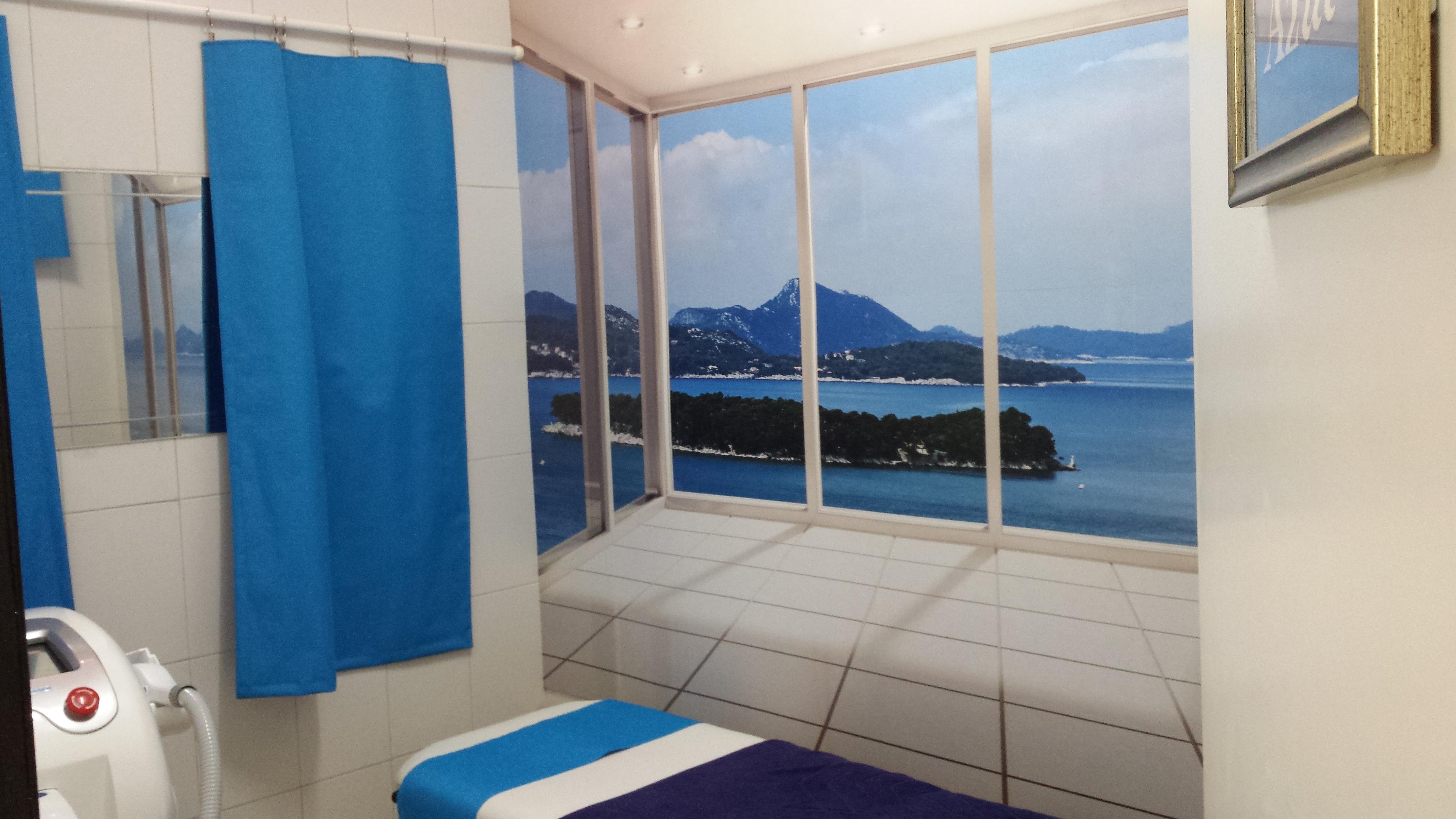 Sala azul (tratamientos  láser).