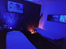Sala de masajes. Masajes en pareja.