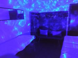 Detalle sala de masajes. Masajes en pareja