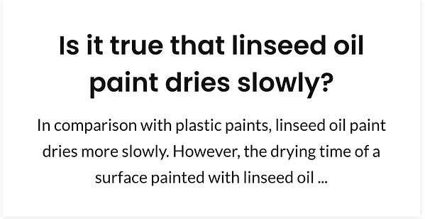 Is it true that linseed oil paint dries