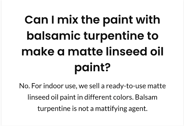 Can I mix the paint with balsamic turpen