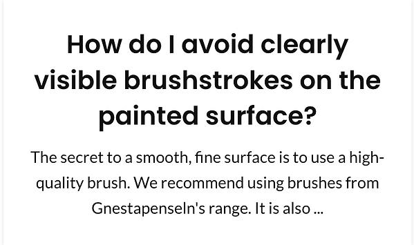 How do I avoild clearly visible brushstr