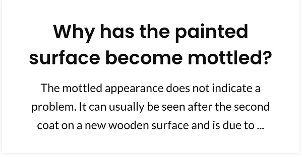 Why has the painted surface become mottl