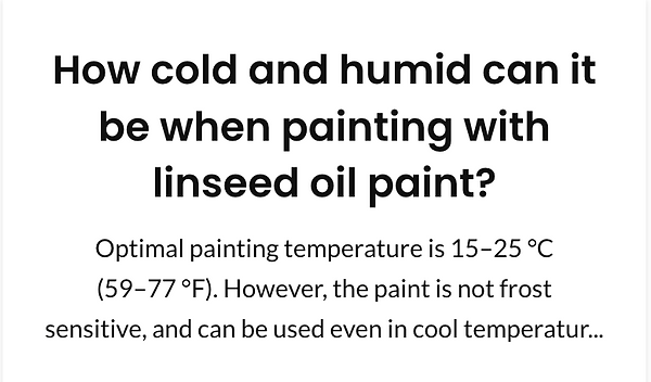 How cold and humid can it be when painti