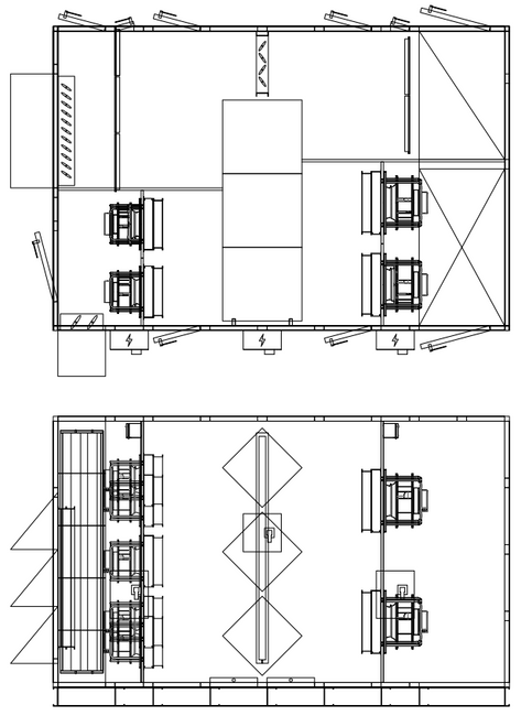 Side-by-side Outdoor Core ERV - Single P