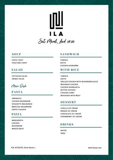 ILA 29 AED Set Meal