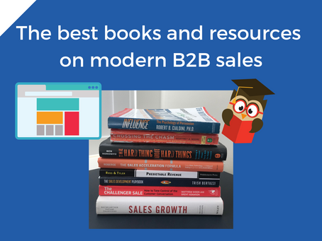The best books and resources on modern sales