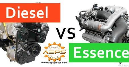 Le coût de l'entretien d'une voiture avec un moteur diesel et des voitures avec un moteur à essence