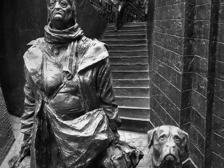 St Pancras relief sculpture by Paul Day